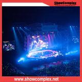 P3.91舞台の背景の屋内レンタル大きいLED表示スクリーン