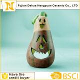Artes cerâmicas do suporte de vela da beringela para a decoração de Halloween