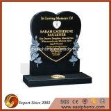 자연적인 Polished Absolute Black Granite Tombstone 또는 Monument/Headstone