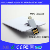 Plástico OTG Business Credit Card Shape USB Flash Drive
