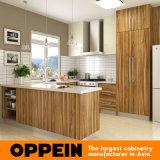 De de u-Vorm van Oppein Moderne Houten Keukenkast met Melamine eindigt (OP16-M01)