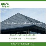 Strato d'acciaio classico del tetto della pietra ricoperto