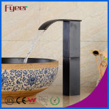 Fyeer High Body Black Brass Cascading Automatic Sensor Tap