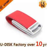 Movimentação de couro de cunhagem feita sob encomenda quente Pendrive do flash do USB do logotipo (YT-5116)