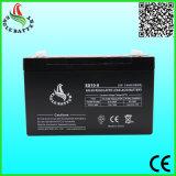 batterie d'acide de plomb de 6V 10ah VRLA pour le pouvoir d'UPS/Solar