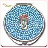 Miroir cosmétique rond d'unité centrale de cadeau de souvenir de Paris avec l'instrument en métal