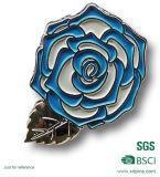 주문을 받아서 만들어진 기념품 금속 개화 꽃 접어젖힌 옷깃 Pin 기장 (XDBG-265)