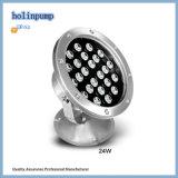 Indicatore luminoso marino del raggruppamento di colore completo LED della fontana 12X3w RGB, indicatore luminoso subacqueo dell'acciaio inossidabile LED di alta qualità IP68 (HL-PL09)