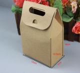La impresión de encargo de la alta calidad de la fábrica se levanta el regalo/compras/el bolso de la maneta del papel de Kraft del alimento con la ventana