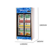 vertical 746L encima de la unidad que resbala el refrigerador de la visualización de la Multi-Puerta