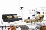 A tela simples do estilo Cum o sofá ajustou-se com pés de Strainless do otomano/pedal