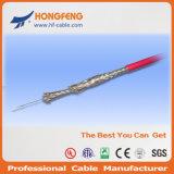 50 ohms câble protégé Mil-C-17 Rg179 de Telecomm de double