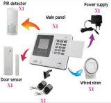 Système d'alarme avec la protection contre les incendies d'écran LCD et de voix pour la maison, la mémoire, l'école, l'usine, le Hopital etc.