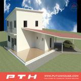 Casa modular pré-fabricada pequena construída pela construção de aço de Luz