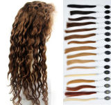 Virgin non trattato Human Hair Wig a mano Tide