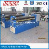 Dobladora asimétrica mecánica de la placa de acero de 3 rodillos W11f-4X2500