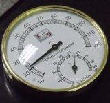 Золотистые термометр и влагомер металла комнаты Sauna для комнаты Sauna