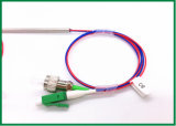 Solo divisor fundido 980nm 1X2 del conector del acoplador de la fibra del modo