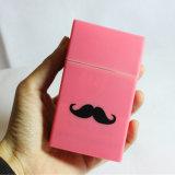 OEMデザイン卸売の髭の形の防水シリコーンのタバコ入れ