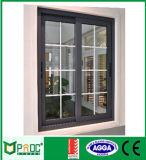 Australia estándar de alto nivel 100F Serie de aluminio ventana deslizante de cristal de ventana