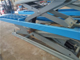al doppio livello al suolo Scissor l'elevatore per l'allineamento a quattro ruote