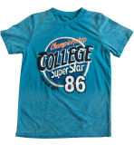 綿の品質Sqt-610と着ている子供の文字のTシャツの男の子のTシャツ