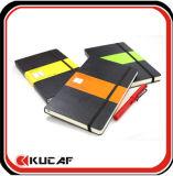 최신 디자인에 의하여 일렬로 세워지는 서류상 노트북 두꺼운 표지의 책 PU 노트북