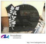 Fiore dell'India/albero/uccello/cuore nero/monumento intagliato traversa, Headstone