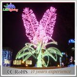 休日の屋外の景色の庭LEDのクリスマスの花の装飾ライト