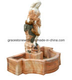 Fontaine de marbre découpée avec le dauphin