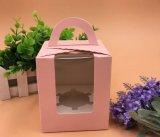 Boîte à gâteau de papier d'imprimerie de couleur avec le traitement