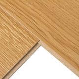 Plancher à haute brillance de stratifié de chêne