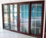 Belle porte intérieure de porte française d'alliage d'aluminium