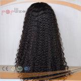 Perruque avant attachée par main bouclée de cheveux humains de couleur de noir de gicleur d'Afro pleine