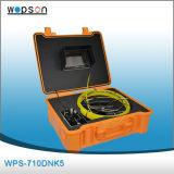 Câmera da inspeção do encanamento no sistema de inspeção da tubulação com a câmera com sistema de vigilância tempo real