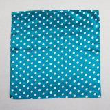 بوليستر لون نقطة زرقاء وشاح صغيرة مربّعة