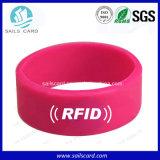 Подгонянные оптовой продажей Programmable Wristbands Китая RFID