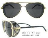 2016 óculos de sol dos óculos de proteção da forma dos óculos de sol do Ce do aço inoxidável das mulheres