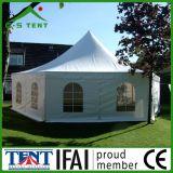Шестиугольный 5mx5m напольный шатер Pagoda приём гостей в саду сени