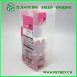 Cilindro de plástico cosméticos caixa de embalagem