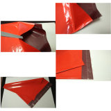 Sacos polis vermelhos impressos expressos do portador do HDPE