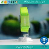 再使用可能な125のkHz Em4200 Fabric Woven Wristband