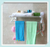 Doppio supporto della barra di tovagliolo per la cremagliera della mensola della stanza da bagno