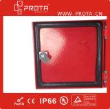 Pequeños rectángulo de distribución del montaje de la pared del metal/tarjeta IP65