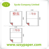 Papel de imprenta de papel del ordenador de la NCR de la alta calidad 3ply
