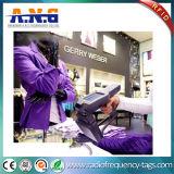 セリウム、ISOの衣類のこつ白いNFCの札/衣類のためのファブリック受動RFID札