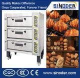 Oven van de Bakkerij van het Dek van het Brood van het Dienblad van het roestvrij staal de Dubbele