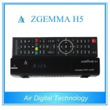 Canais completos High-Tech Zgemma H5 FTA Cable Box com Hevc / H. 265 DVB-S2 + T2 / C Twin Tuners