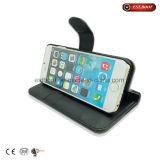 Cassa del telefono di Fabric+PU con il basamento del telefono/caso di iPhone