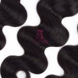 ブラジルボディ波のバージンの毛の織り方自然なカラーRemyの人間の毛髪の拡張